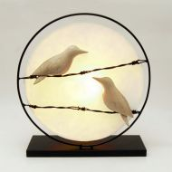 Indoor Decor - Birds on a Wire Lamp