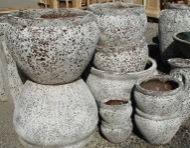 Ocean Rock Bellied Rolled Rim Planter 240 x 160 H mm - 4 Size