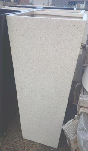 Lightweight Terrazzo Tall Square Taper 540 x 1200 H mm - Size 3 - White