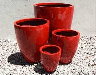 Lightweight Outdoor Tall Round Planter in Bright / Gloss Colours - 4 sizes