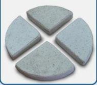 Concrete Terrazzo Feet Flat- 85x17 H mm - Set of 4 - White