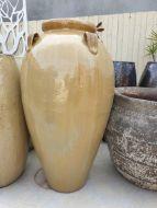 Economy Glazed Squat Temple Jar 500 x 1050 H mm - Black